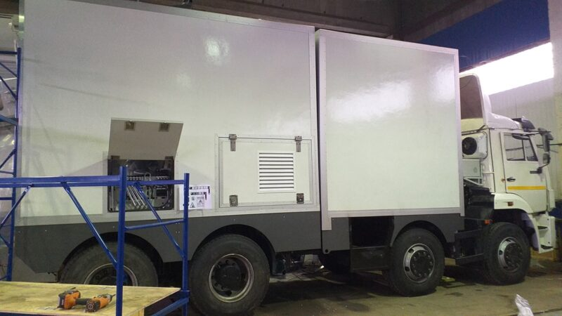 Фургоны автомобиля — досмотрового комплекса — Транс-Мороз 16