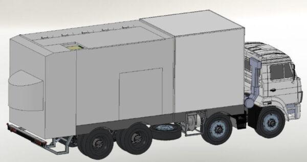 Фургоны автомобиля - досмотрового комплекса - Транс-Мороз 1