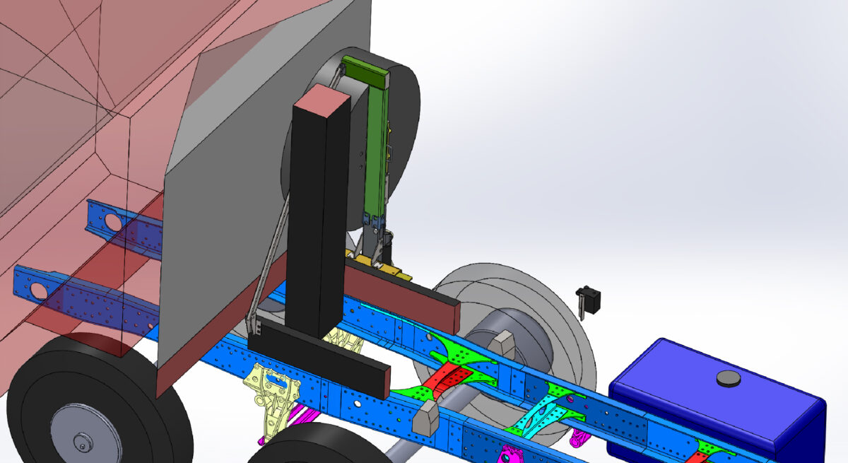 Изготовление и монтаж кронштейна запасного колеса для крюкового погрузчика — Транс-Мороз 3