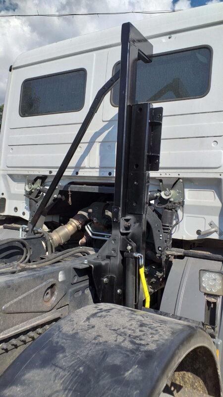 Изготовление и монтаж кронштейна запасного колеса для крюкового погрузчика — Транс-Мороз 6