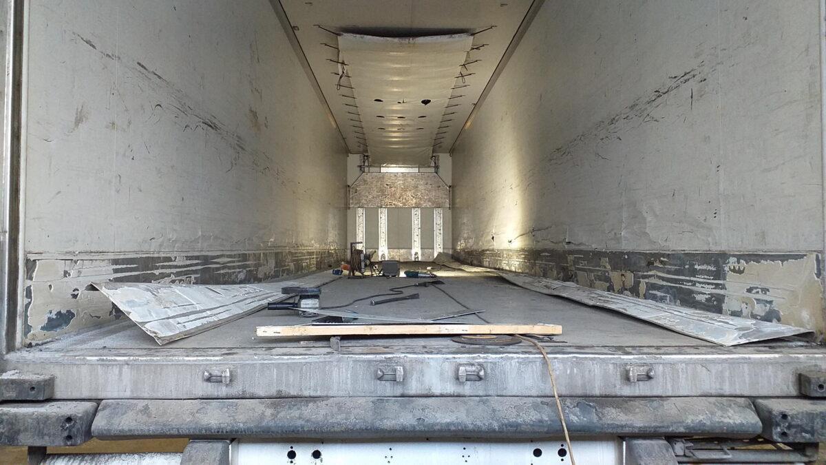 Ремонт внутренней поверхности боковых стен фургона — Транс-Мороз 1