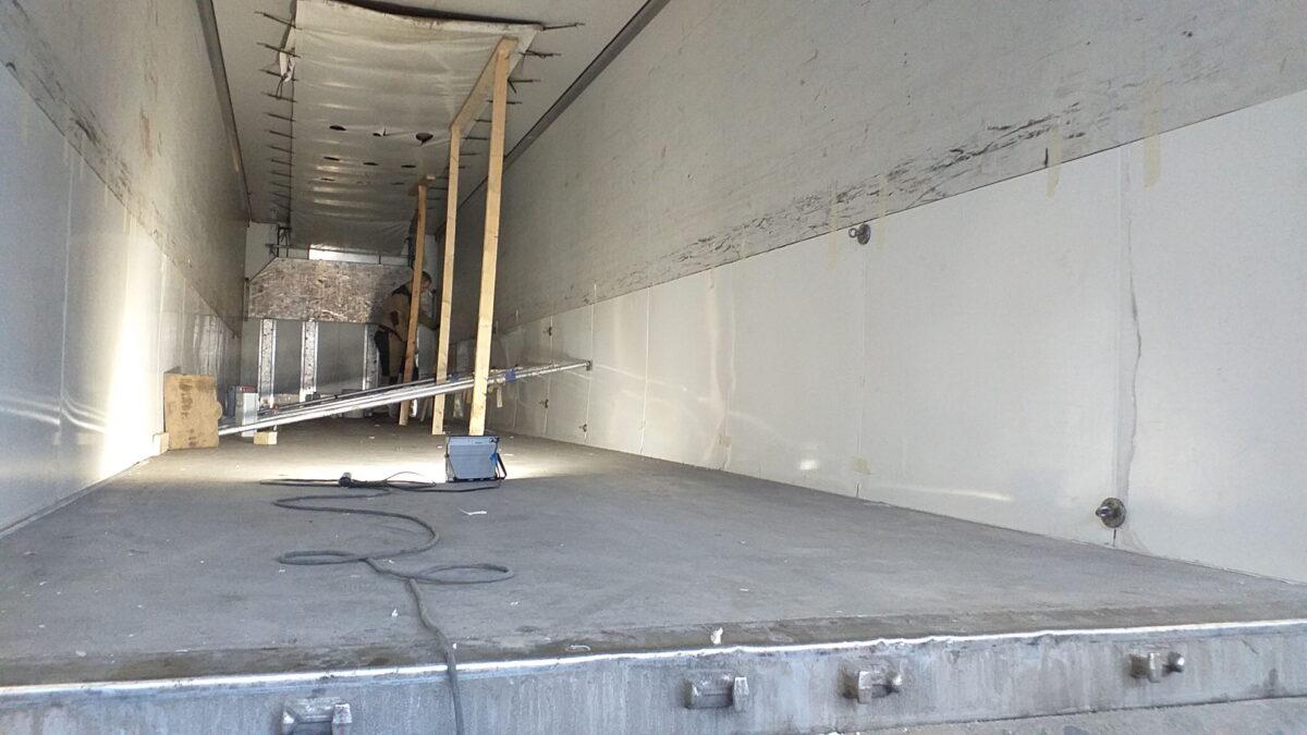 Ремонт внутренней поверхности боковых стен фургона — Транс-Мороз 4