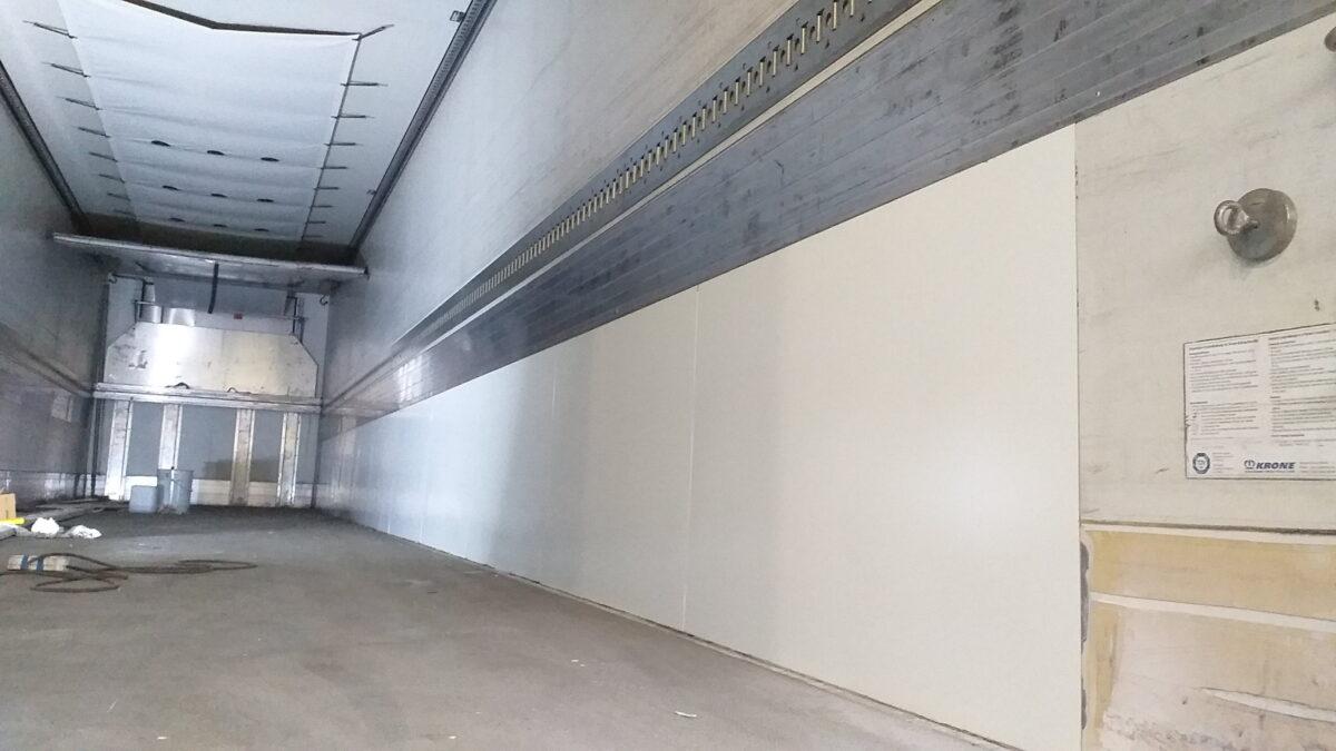Ремонт внутренней поверхности боковых стен фургона — Транс-Мороз 5