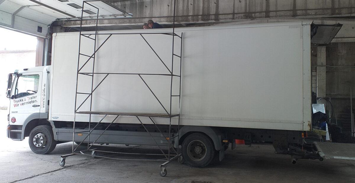 Замена крыши на промтоварном фургоне- Транс-Мороз 18