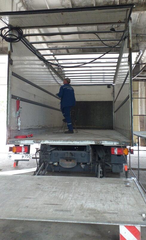 Замена крыши на промтоварном фургоне- Транс-Мороз 19