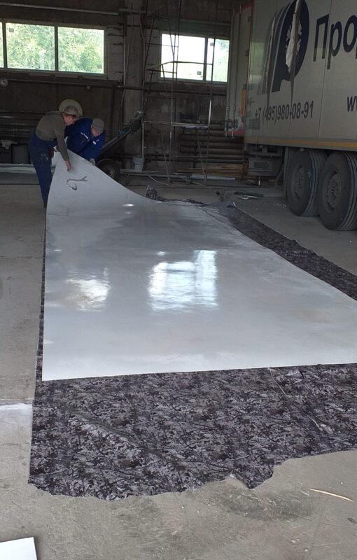 Замена крыши на промтоварном фургоне- Транс-Мороз 21