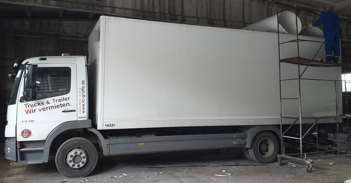 Замена крыши на промтоварном фургоне- Транс-Мороз 22