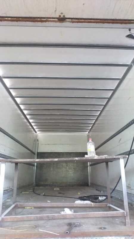 Замена крыши на промтоварном фургоне- Транс-Мороз 23