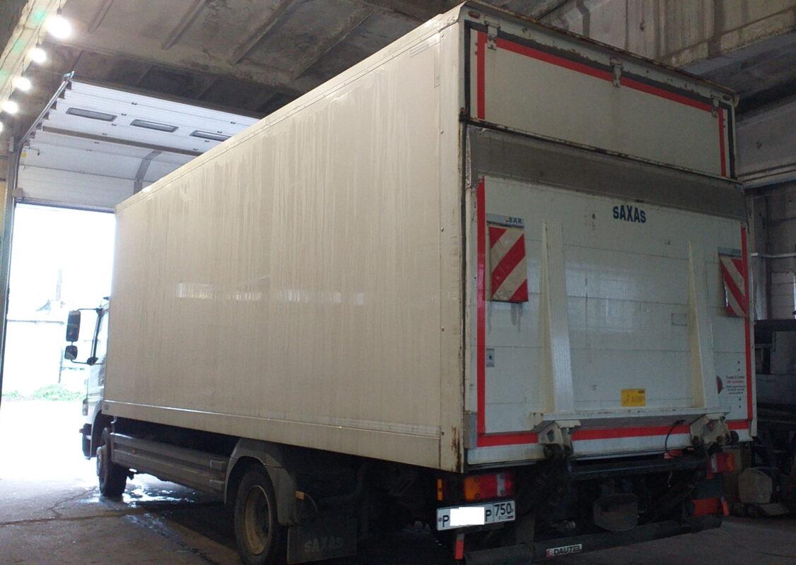 Замена крыши на промтоварном фургоне- Транс-Мороз 25