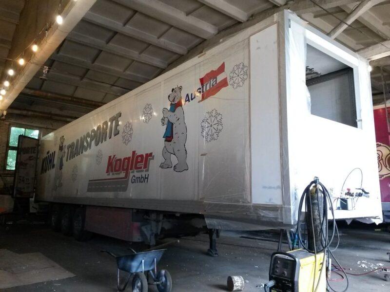 Ремонт передней части фургона полуприцепа-рефрижератора - Транс-Мороз 9
