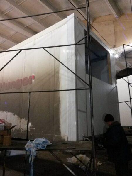 Ремонт передней части фургона полуприцепа-рефрижератора - Транс-Мороз 4