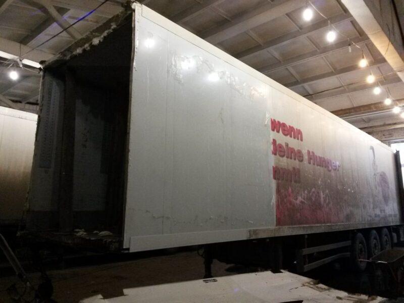 Ремонт передней части фургона полуприцепа-рефрижератора - Транс-Мороз 5