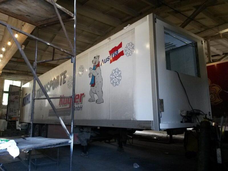 Ремонт передней части фургона полуприцепа-рефрижератора - Транс-Мороз 7