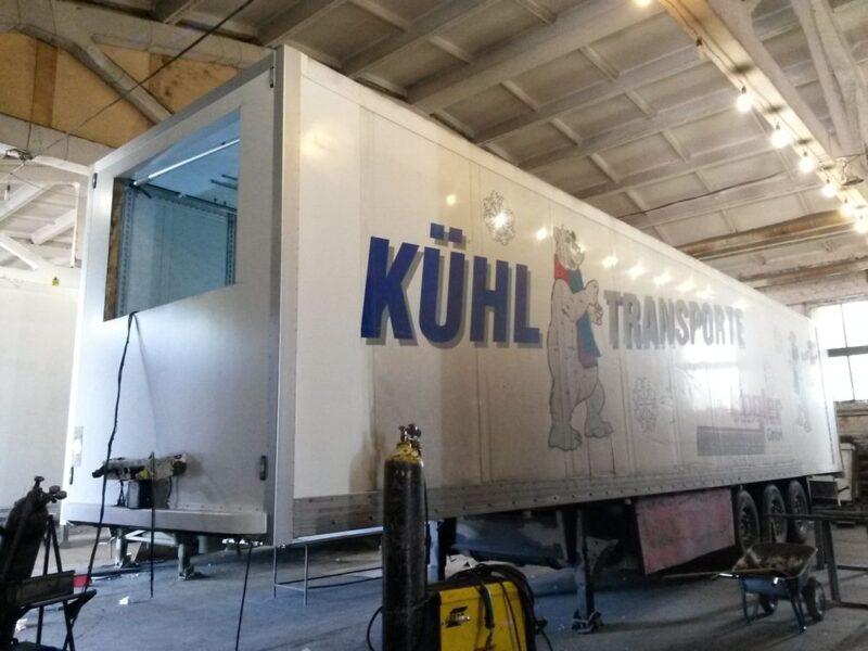 Ремонт передней части фургона полуприцепа-рефрижератора - Транс-Мороз 8
